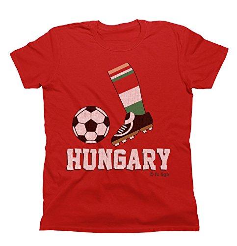 (Mens Football Boot T-Shirt HUNGARY Fan Top Euro 2016 )