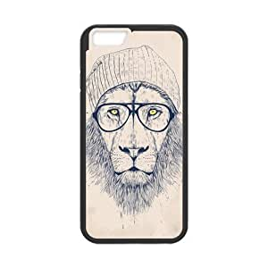 iPhone 6 Protective Case - Hipster Lion Hardshell Cell Phone Cover Case for New iPhone 6 by mcsharks