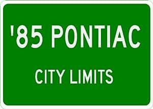 1985 85 PONTIAC SUNBIRD City Limit Sign - 10 x 14 Inches