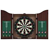 vidaXL Professional Sisal Dartboard with Cabinet and 6 Darts Throwing Game