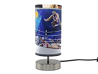WWE Lamp Light Lampshade Boys Kids Childrenu0027s Bedroom Night Light Lamps  Wrestling Accessories Gifts [Energy Class A++]