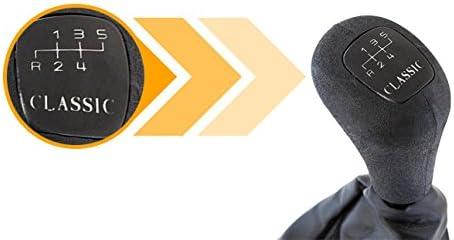 myshopx KSR24 Schaltknauf mit Schaltmanschette und Rahmen 5 Gang