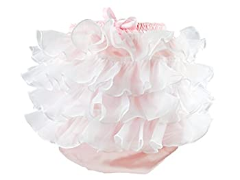 Haian ABDL PVC & Satin Panties Frilly Rumba Pants (Large, Pink)