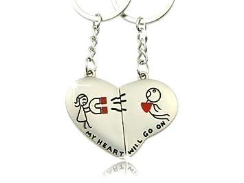 Schlüsselanhänger Partner Set = Küssende Elefanten = liebevolles Geschenk