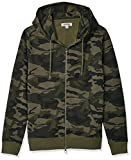 Goodthreads Men's Fullzip Fleece Hoodie, Green Camo, X-Large