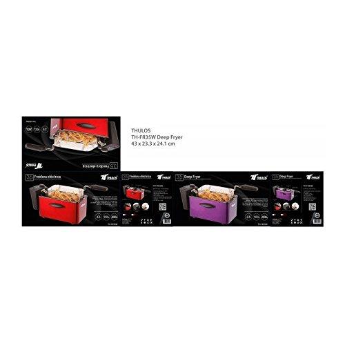 Rosa Indipendente 1500 W Gourmetmaxx 02819200125 friggitrice Hot air fryer 2,5 L Singolo Nero