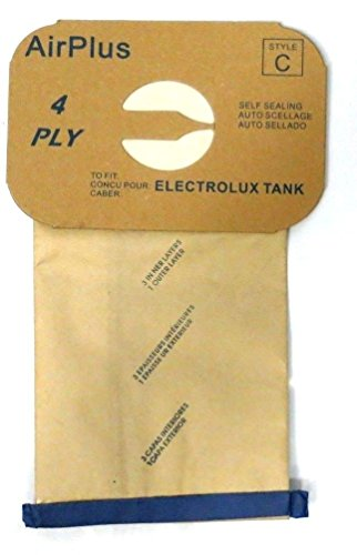 Electrolux Vacuum Replacement Bag (Package of 12 Replacement Aerus / Electrolux Type C)