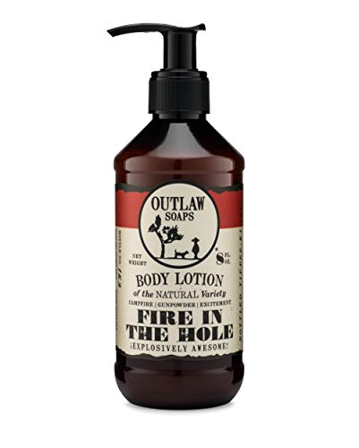 Fire in the Hole Lotion: Explosively Awesome Lotion that Smells like Campfire, Gunpowder, and Sagebrush (Just like Camping.)