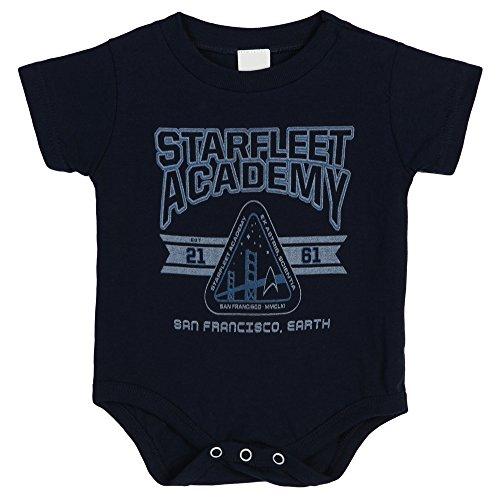 Star Trek Starfleet Academy Infant Baby Romper Snapsuit - Navy (6 Months)