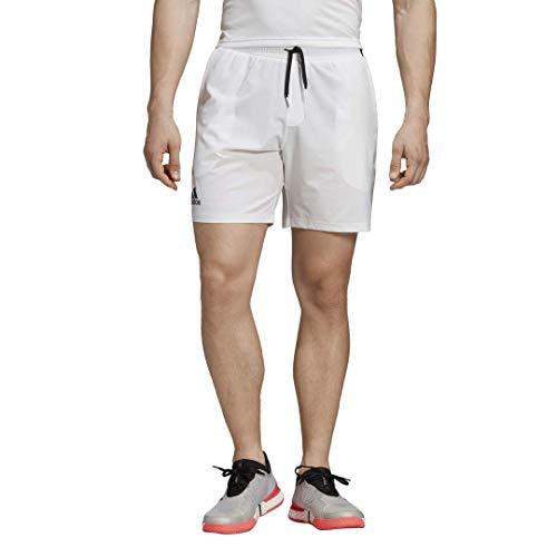 adidas Men's Club 7 Inch Tennis Short, White, Medium