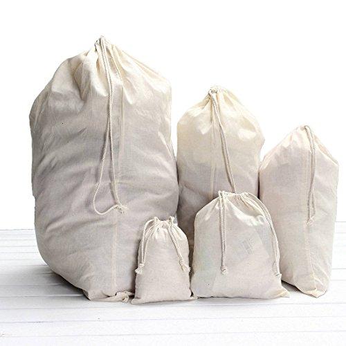 KING DO WAY Baumwolle Zuziehbeutel Beutel Kleidersack Wäschesack Waschsack Tasche Sack 52x75cm