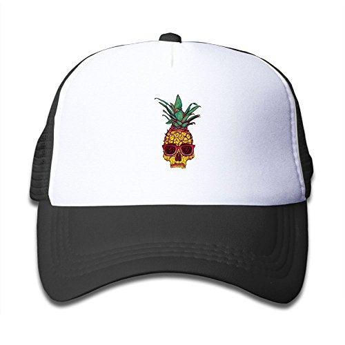 Pineapple Skull Sunglasses Bone Kid Mesh Hat Toddler Baseball Cap For Boys Girls Prints Adjustable Snapback Hip Hop Cool Trucker Plain Flat Hats For Dance,Neo-Jazz,Street - Sunglasses Girl Dancing