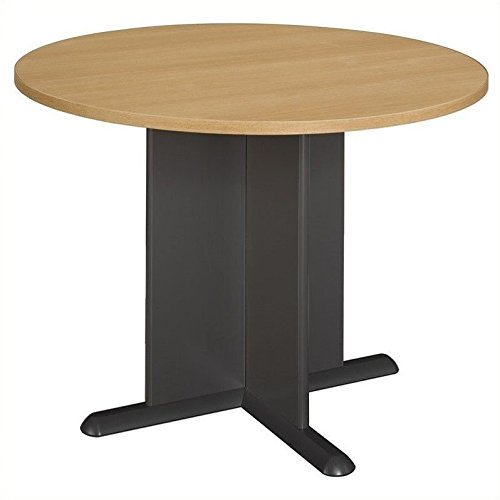Bush Business Furniture 42 Inch Round Conference Table, Light Oak with Graphite Gray (Oak Conference Table compare prices)