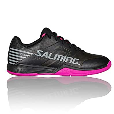 Salming Womens Viper 5 Sports Training Shoes Trainers - Black/Pink - 4UK