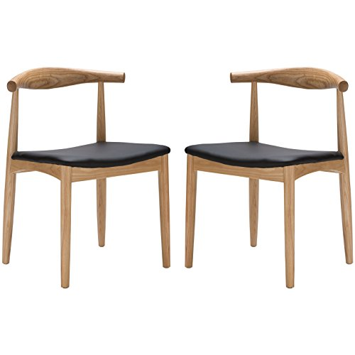 Poly and Bark Wegner Style Elbow Chair (Set of 2), Natural