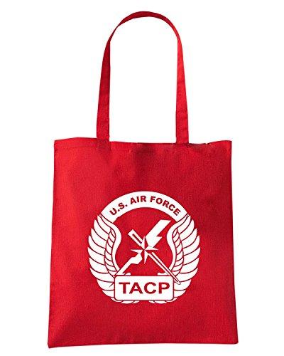 T-Shirtshock - Bolsa para la compra T0130 AIR FORCE TACP militari Rojo