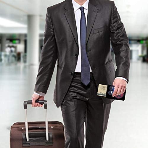 BEATLES ビートルズ - HDNGUITAR & FLAGBlack Label パスポートケース メンズ レディース パスポートカバー パスポートバッグ 携帯便利 シンプル ポーチ 5.5インチ PUレザー スキミング防止 安全な海外旅行用 小型 軽便