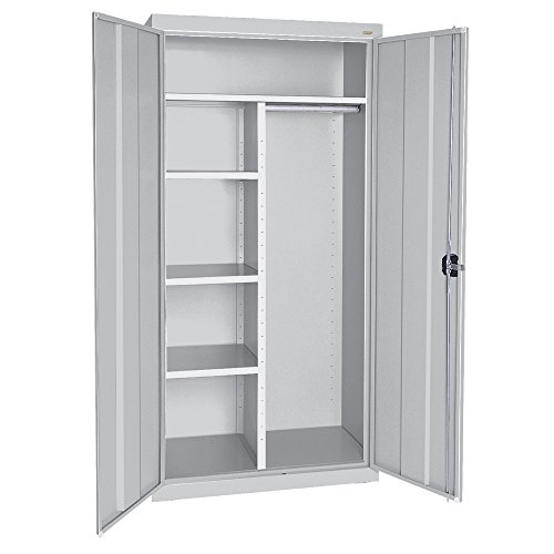 Sandusky Lee EACR362472-05 Elite Series Wardrobe Storage Cabinet, 36'' Width x 24'' Length x 72'' Height, Dove Gray by Sandusky