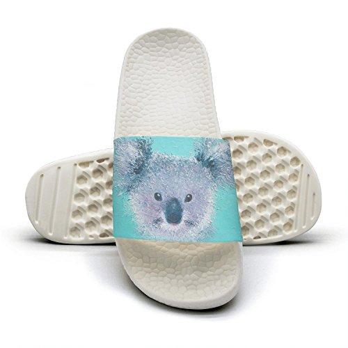 45d1b2851 Slide Sandals For Women Cute Koala Head Art Green Indoor Bath Slipper