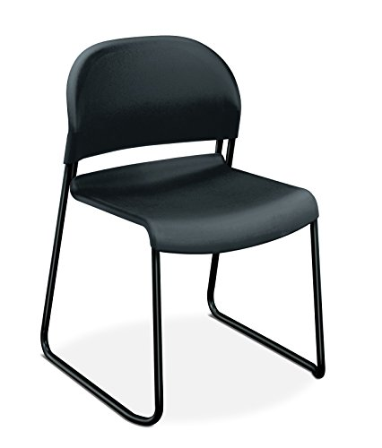 HON Guest Stacker Chair, Charcoal with Black Finish Legs, 4 Per Carton Review
