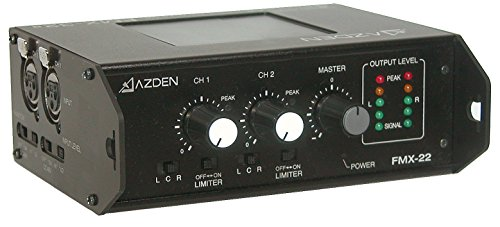Azden FMX-22 2-Channel Portable Field Mixer with 2 XLR Inputs