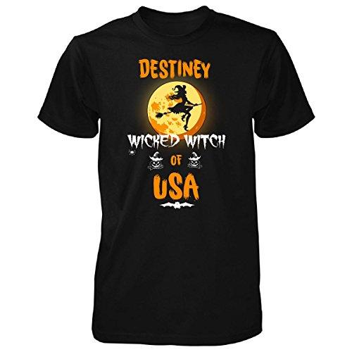 Destiney Wicked Witch Of Usa. Halloween Gift - Unisex Tshirt Black - Usa Destiney