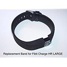 Replacement Band Strap kit for Fitbit Charge HR Activity Tracker - Large Black