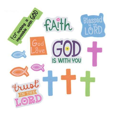 160 Inspirational Religious Foam Peel and Stick -