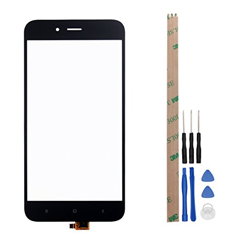 HYYT Phone Repair Part Replacement Front Glass Touch Screen Touch Panel Tp for Xiaomi Mi A1 /Mi 5X+Free Tools (Black)