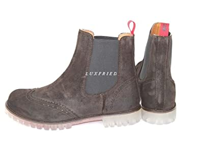 Moschino Men s Shoes Full Brogue Shoe Boot Ankle Boots 55953 Brown Size  ... 0adceef04d1e