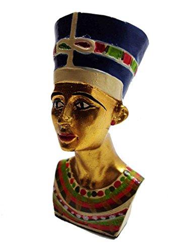 Queen Nefertiti Statue - bonballoon Egyptian Handmade Hand Painted Queen Nefertiti Queen Pharaoh Figurine Statue Ancient Sculpture 3D Egypt 3.6