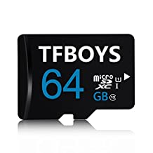 TFBOYS 64GB Micro SDHC Class 10 TF Memory Card with Micro SD Card Reader for Mobile, Tablet, Cameras and Cell Phone MicroSD Card