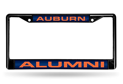 Rico Industries NCAA Auburn Tigers Alumni Laser Cut Inlaid Standard Chrome License Plate Frame ()