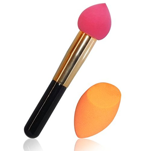 Beauty Sponge Blender-Latex Free-Foundation Sponge applicator-Set of 2 Blender Sponges-Professional Results. Tips and Tricks Instructions Included. Make up artist favorite makeup applicators.
