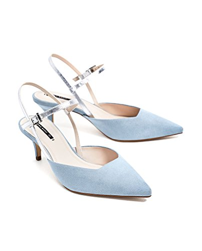 Zara Donna Scarpa tacco aperta sul tallone combinata 6206/201