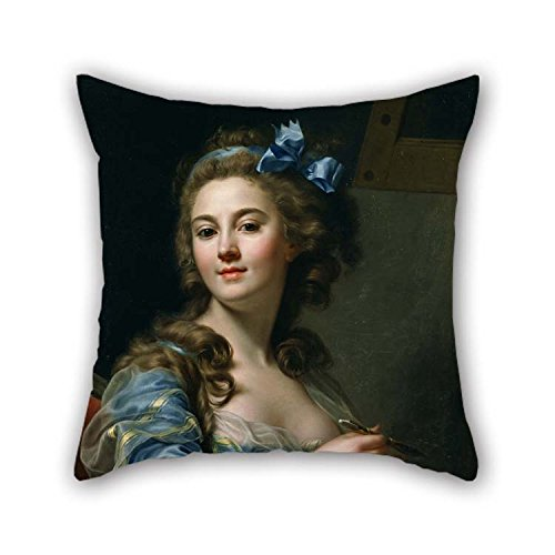 (Oil Painting Marie-Gabrielle Capet - Self-Portrait Pillow Covers 18 X 18 Inches / 45 by 45 cm Best Choice for Outdoor Home Office Pub Office Valentine Home with 2 Sides)