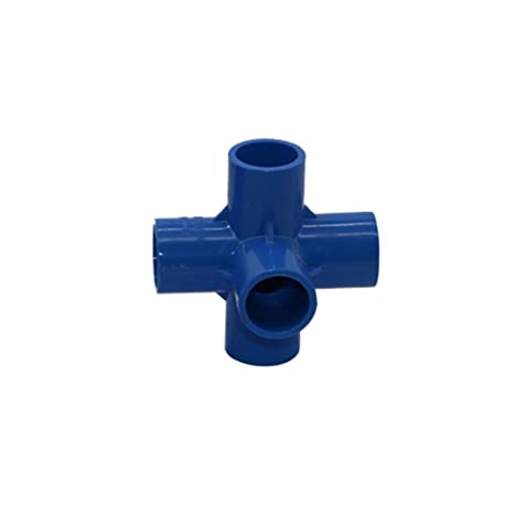 5 conectores de tubería Adhere To Fly de PVC, de 3 vías, 4 vías