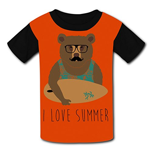 Short Sleeve New Love T-Shirts 3D Custom Printed With I Love Summer For Unisex Kid ()