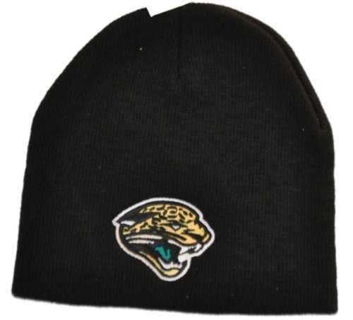 Reebok Embroidered Cap (Jacksonville Jaguars Reebok Embroidered Team Logo Black Knit Beanie Cap)