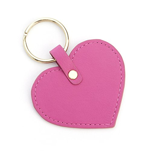 Royce Pink Heart Shaped Key Fob 595-WB-5