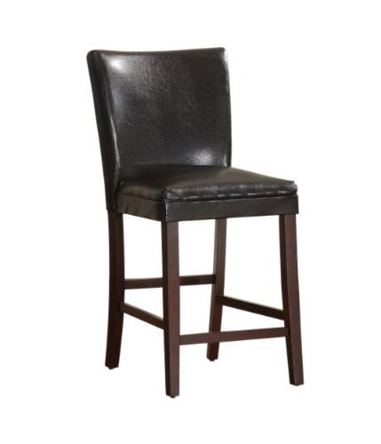 Homelegance 3276-24CR Bi-Cast Vinyl Parson Counter Height Chair (Set of 2), Dark Brown