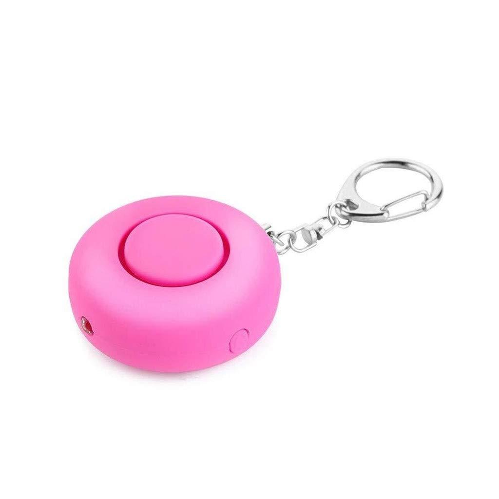 Personal Alarm Security Alarm- Self Defense Flashlight Alarm Panic Alarm Pocket Guardian Keychain Women Girl Kids Elderly Bidirectional Switch (Color : Pink)