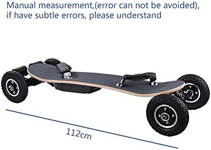 WZHESS 42 Pouces Cross Country Planche à roulettes Tout Terrain Planche à roulettes Longboard avec contrôle à Distance pour la croisière et de Descente Large et Stable Skateboards