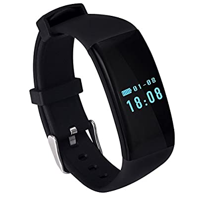 30Meters Waterproof Men Women Smart Heart Rate Monitor Wristband Sport Watch Bracelet for iPhone Android Phone,with Bluetooth 4.0 Fitness Activity Tracker-Pedometer,Sleep Tracker,Calorie Counter