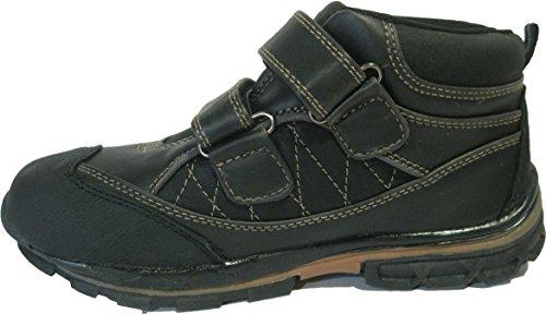 Boots noires à scratchs pour garçons