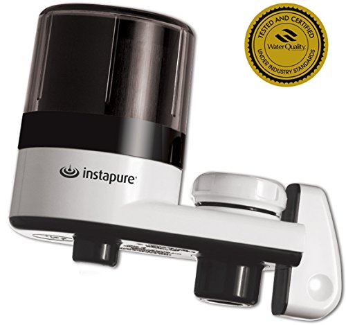 InstaPure F2BWT3P-1ES Faucet Mount Water Filter System, White by Instapure