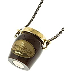 Q pot chocolate butter bottle necklace New