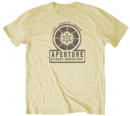 1940's Cream (Portal 2 Aperture 1940 Mens Lightweight Cream T-Shirt (s))
