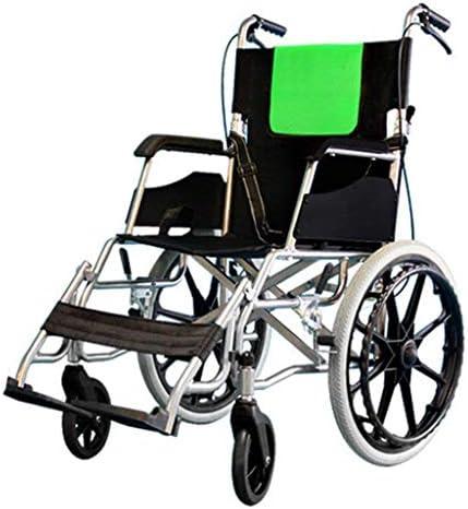 JBHURF Rollstuhl, der ältere untaugliche Laufkatze faltet Kleiner älterer ultraleichter beweglicher Roller for Kinder ältere ältere untaugliche Personen (Color : Green)
