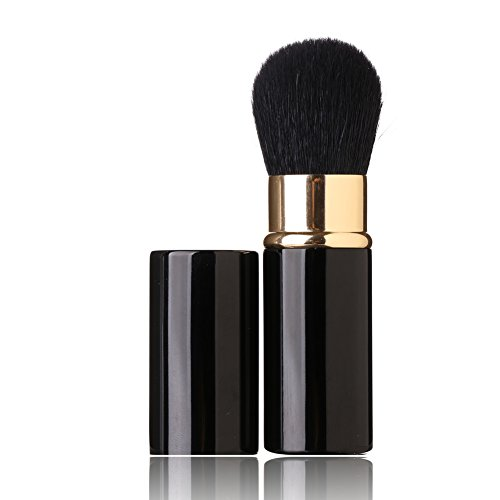 - Aguder Retractable Makeup Brush - Goat Hairs - Portable Face Loose Powder Foundation, Mini Blush Brush Beauty Cosmetic Tool